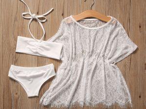 Ensemble blanc pour fille avec sous-vêtements et robe