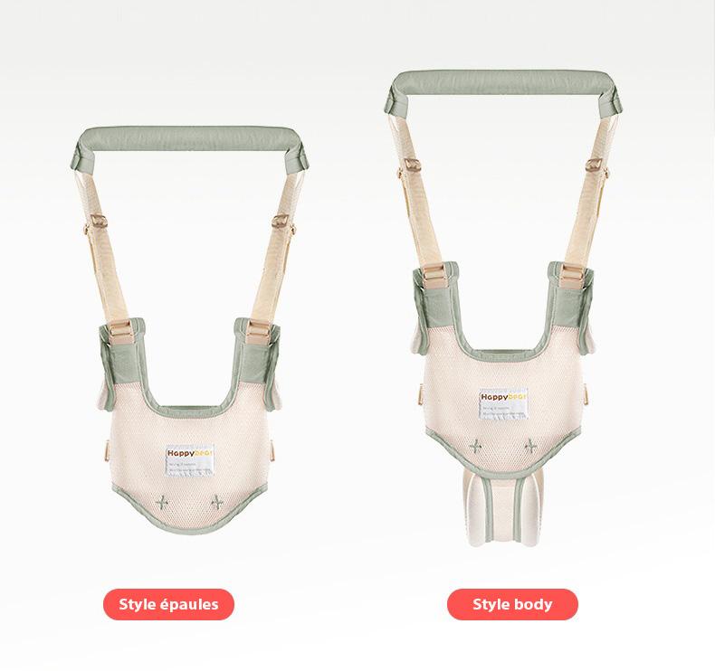 Deux façons d'utiliser le harnais pour bébé