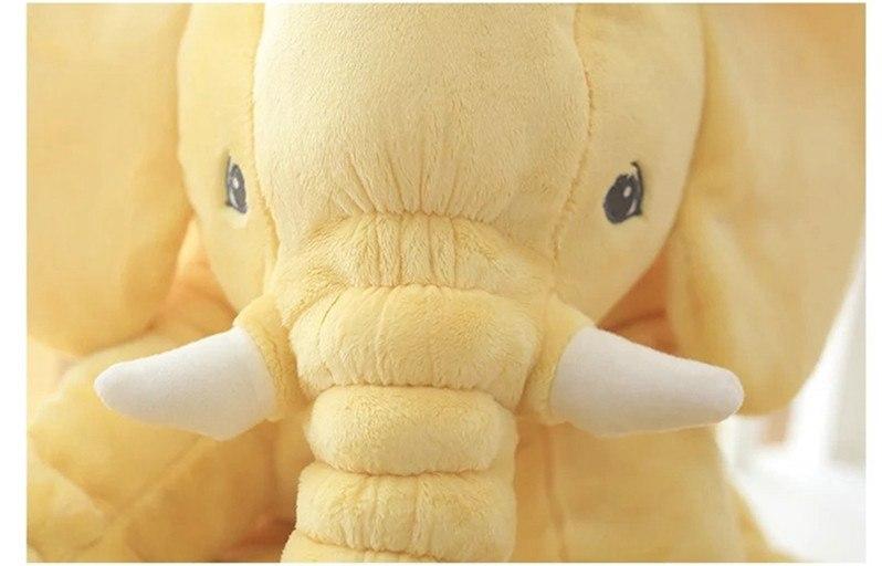 Peluche éléphant jaune - vue de face