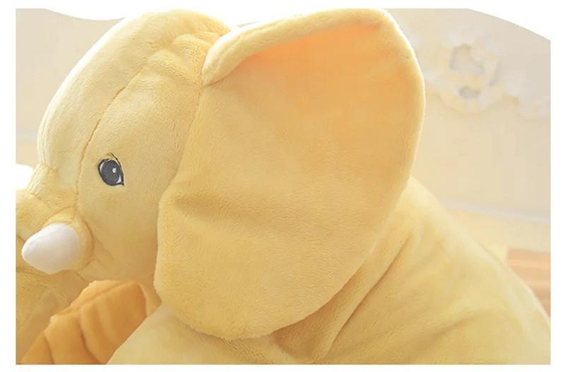 Peluche éléphant jaune - vue de profil