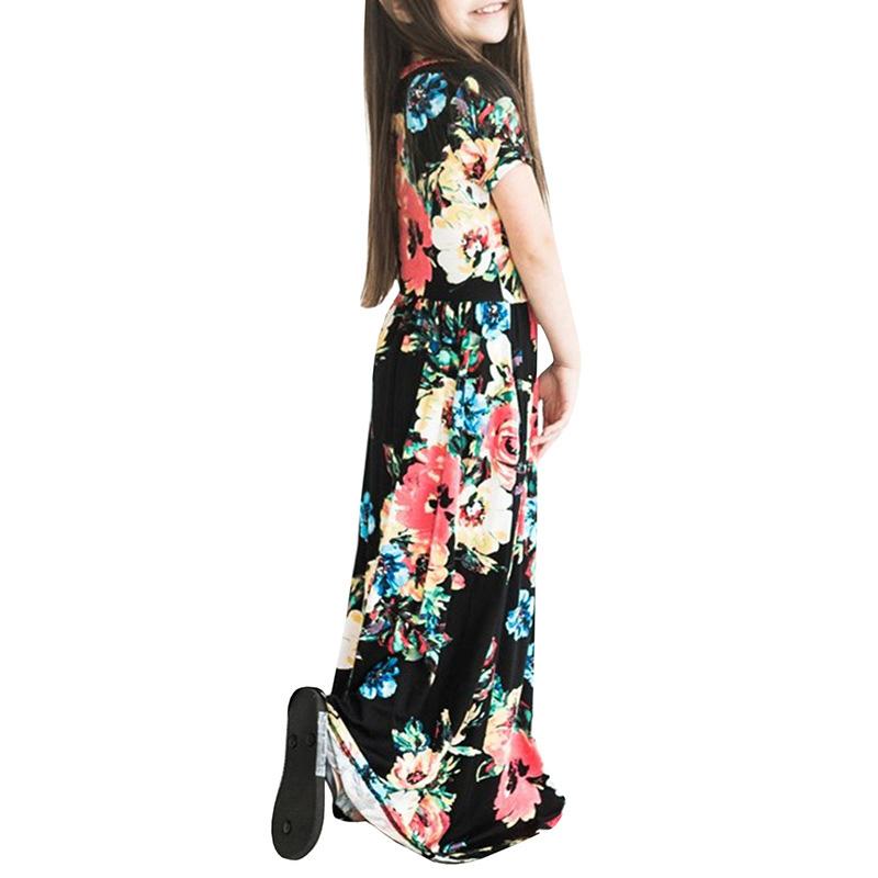 chaussures d'automne valeur formidable haut de gamme véritable Robe d'été longue pour fille - BOHÉMIENNE