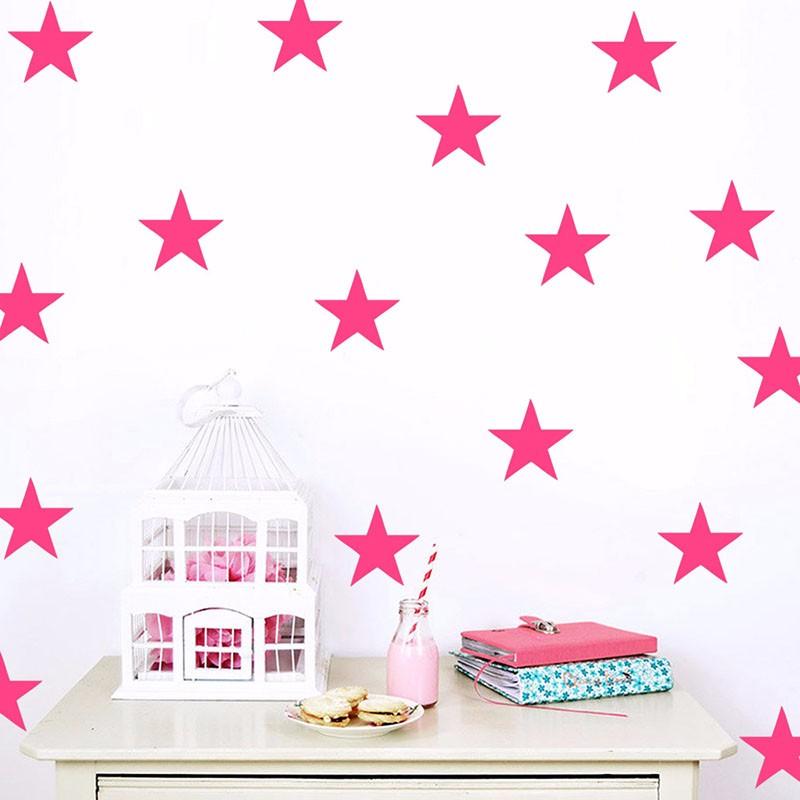 Stickers étoiles déco chambre bébé fille
