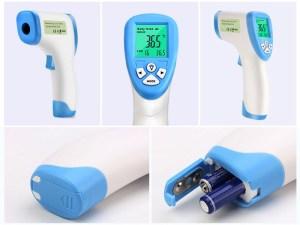 Thermomètre infrarouge pour bébé fonctionne avec des piles