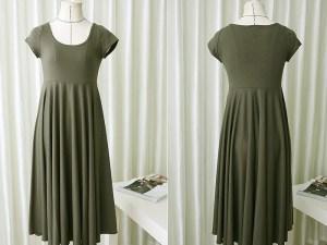 Robe d'été souple - Robe grossesse couleur vert