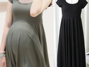 Robe d'été souple pour femme enceinte