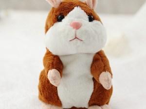Peluche hamster qui parle et répète ce qu'on dit - Jouet enfant - 15cm