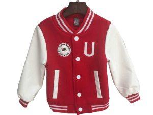 Veste blouson baseball enfant garçon - couleur rouge