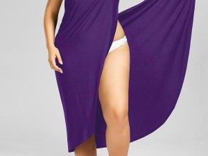 Robe violet décontractée femme enceinte