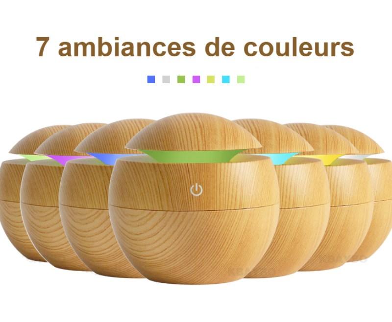 Humidificateur d'air LED 7 ambiances couleurs
