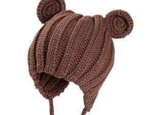 Bonnet bébé marron