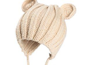 Bonnet bébé beige