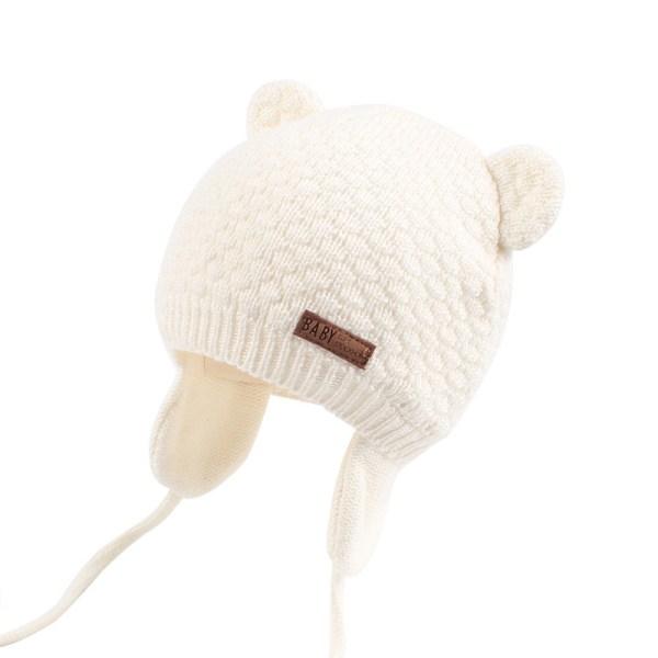 Bonnet bébé couleur blanc écru