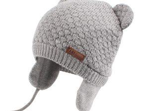 Bonnet bébé couleur gris