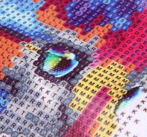 Chaton arc-en-ciel - Broderie diamant 5D à faire soi-même