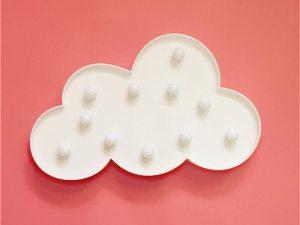 Veilleuse murale en forme de nuage