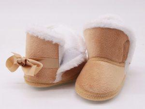 Bottines en suédine bébé - couleur beige