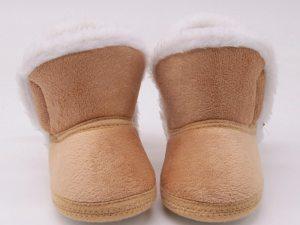 Boots en suédine bébé - couleur beige