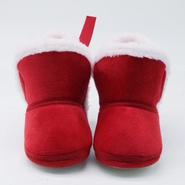 Bottines en suédine bébé couleur rouge