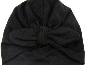 Bonnet turban bébé couleur noir