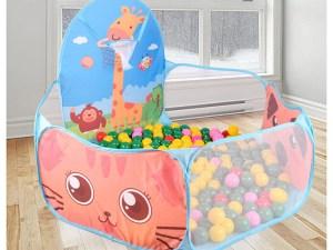 Parc miniature pour enfant avec boules multicolores