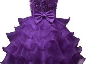 Robe fille occasion mariage - Robe couleur violet