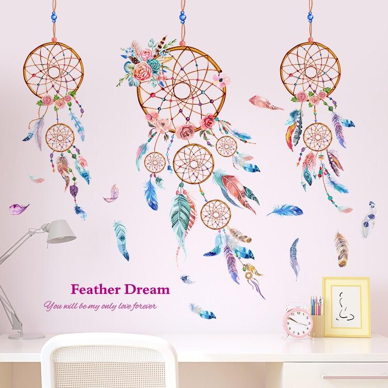 Stickers muraux capteur de rêves chambre enfant