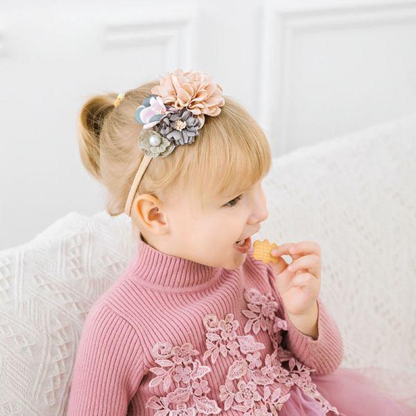 Bandeau floral pour bébé, nouveau-né ou enfant