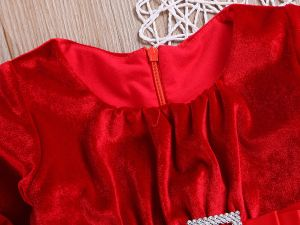 Robe Noël rouge pour fille