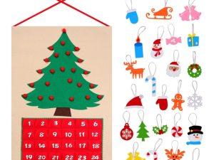 Dimensions calendrier de l'Avent arbre de Noël