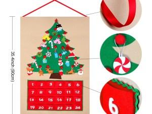 Dimensions calendrier de l'Avent Sapin de Noël