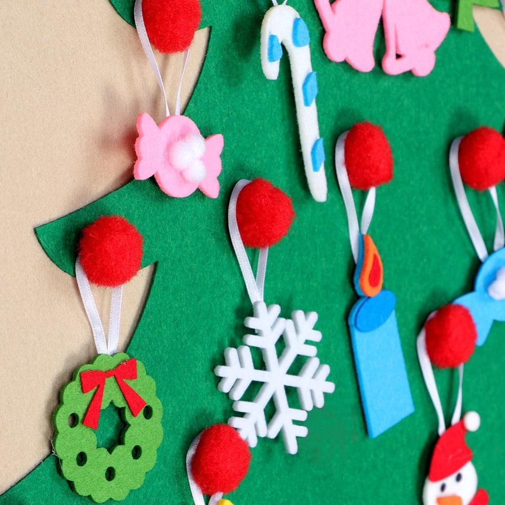 Détail sapin de Noël calendrier de l'Avent