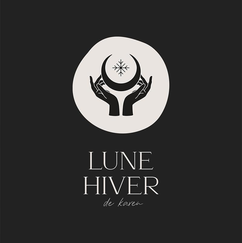 Création du logo de Lune Hiver de Karen, créatrice suisse d'objets de décoration