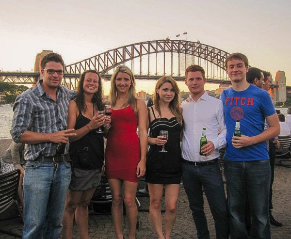 Drinks at the Opera Bar at the Sydney Opera House.