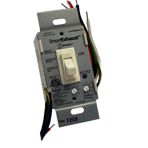 smartexhaust ventilation control from aircycler almond toggle