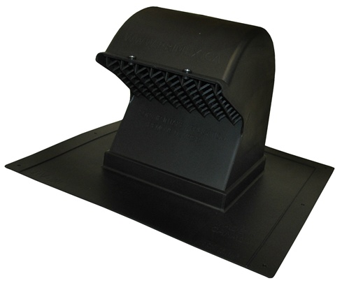 roof mounted exhaust vent in black