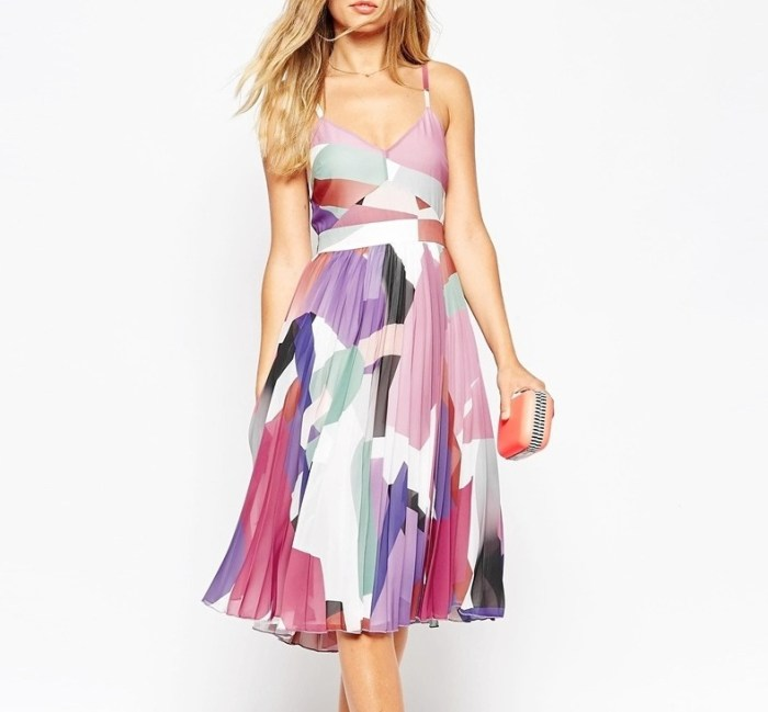 HeyRashmi Gift Guide: Asos Pleated Midi Dress in Geo Print