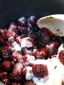Black Forest Hot Chocolate - cherry, grape, blackberry and blackcurrant syrup
