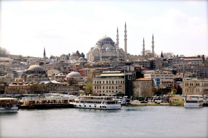 Blue Mosque from across the Bosphorus river