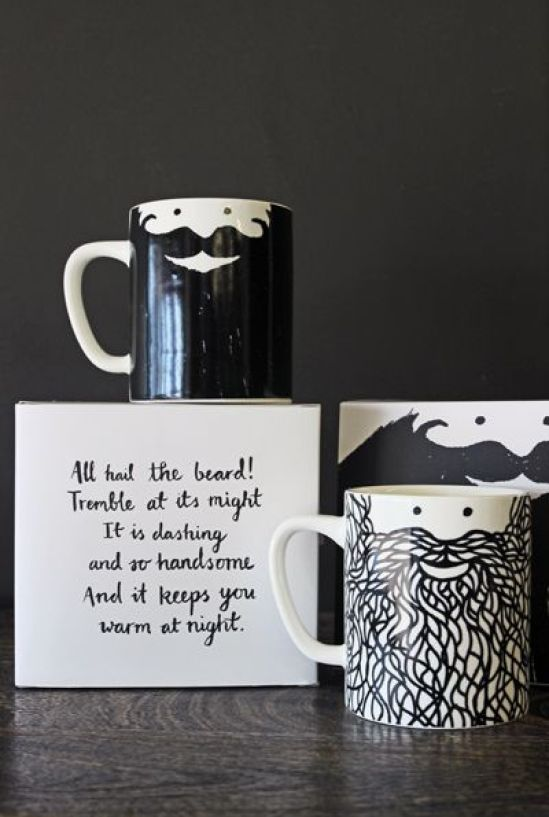 HeyRashmi gift guide- Beardy Mug Set by Urban Graphic