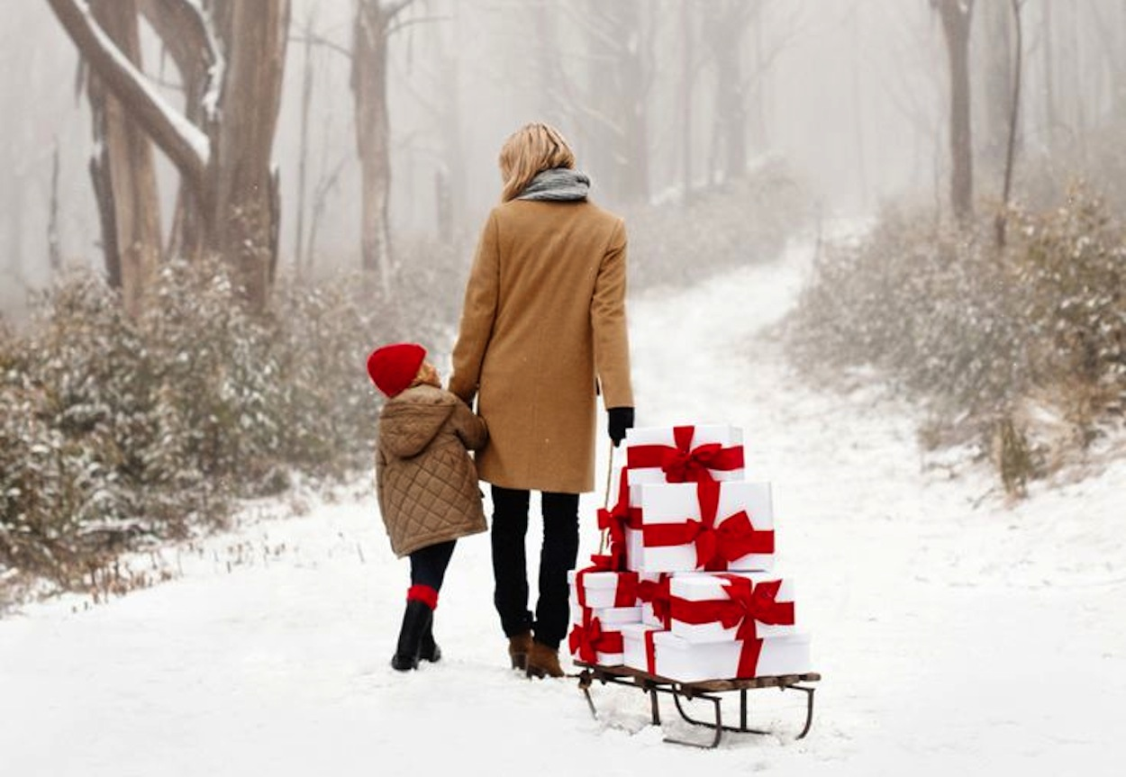 Presents on a sled