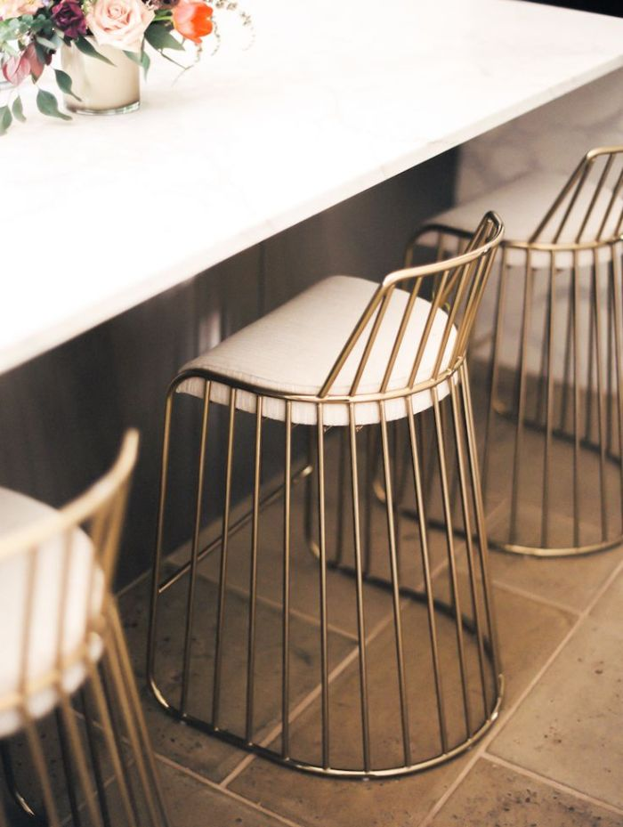 HeyRashmi home decor ideas - brass bar stools