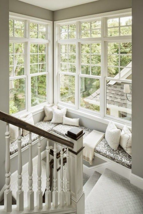 HeyRashmi home decor ideas - stairway window seat