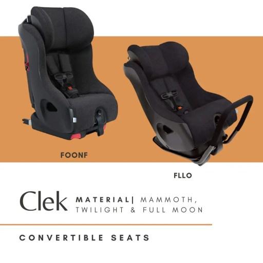 clek convertible foonf fllo nontoxic car seat