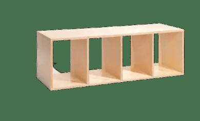 Montessori floor bed shelves