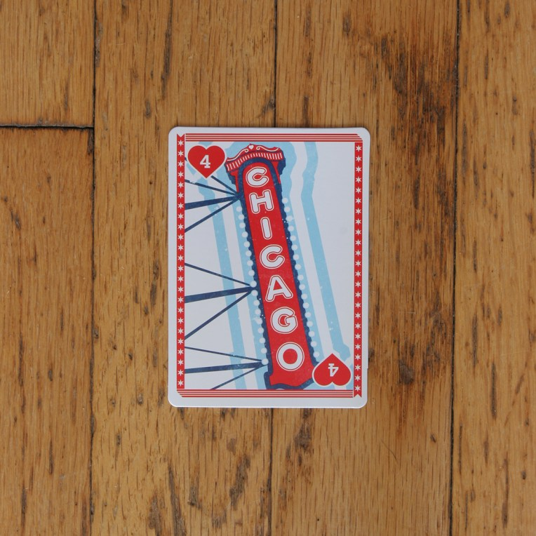 Chicago Playing Card: Chicago Theatre