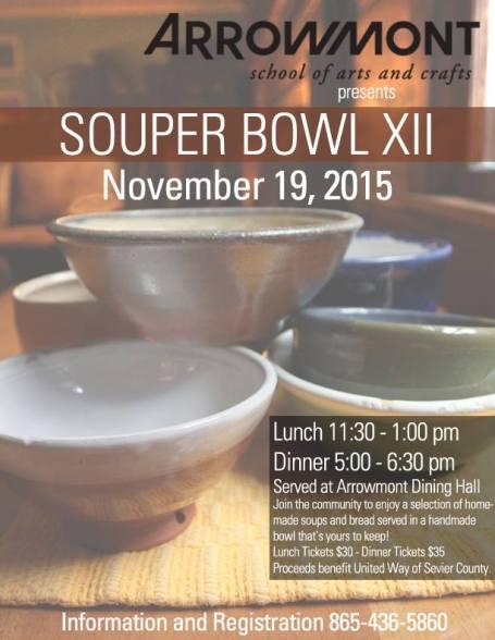 arrowmont-souper-bowl-2015-poster-heysmokies