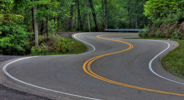 Scenic Drive in the Smokies along Highway 129