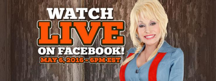 Dolly Parade Live on Facebook May 6
