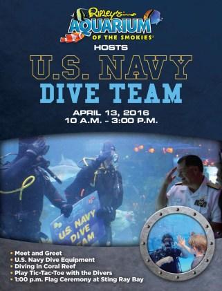 U.S. Navy Dive Team at Ripley's Aquarium