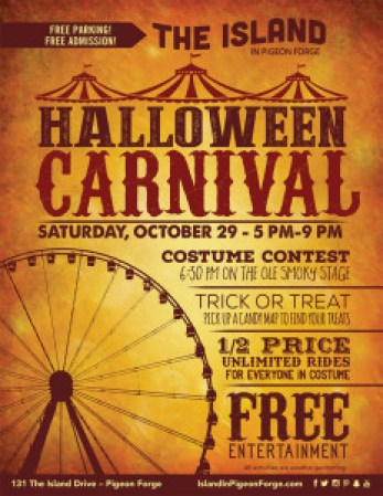 4th Annual Halloween Carnival at The Island in Pigeon Forge